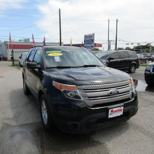 2013 BLACK FORD EXPLORER (1FM5K7B80DG) with an 3.5L engine, Automatic transmission, located at 830 E. Canino Rd., Houston, TX, 77037, (281) 405-0440, 38.358219, -81.729942 - Photo #0