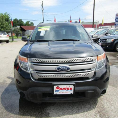 2013 BLACK FORD EXPLORER (1FM5K7B80DG) with an 3.5L engine, Automatic transmission, located at 830 E. Canino Rd., Houston, TX, 77037, (281) 405-0440, 38.358219, -81.729942 - Photo #1
