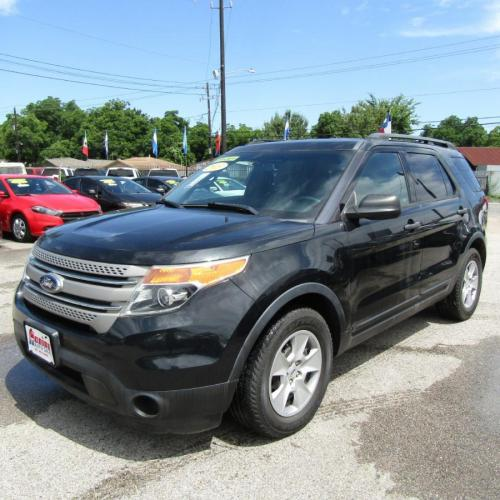 2013 BLACK FORD EXPLORER (1FM5K7B80DG) with an 3.5L engine, Automatic transmission, located at 830 E. Canino Rd., Houston, TX, 77037, (281) 405-0440, 38.358219, -81.729942 - Photo #2