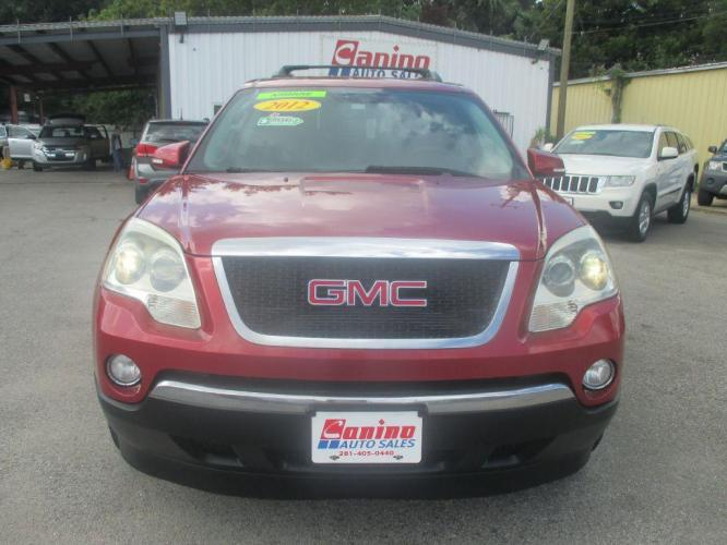 2012 RED GMC ACADIA SLT-1 (1GKKRRED9CJ) with an 3.6L engine, Automatic transmission, located at 830 E. Canino Rd., Houston, TX, 77037, (281) 405-0440, 38.358219, -81.729942 - Photo #0