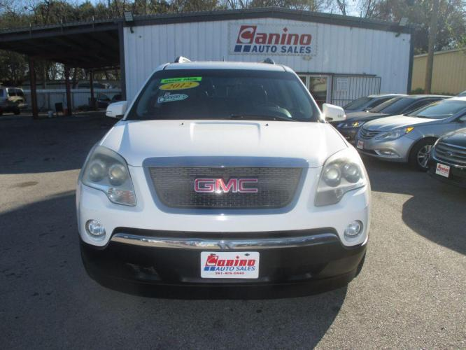 2012 WHITE GMC ACADIA SLT-1 (1GKKRRED1CJ) with an 3.6L engine, Automatic transmission, located at 830 E. Canino Rd., Houston, TX, 77037, (281) 405-0440, 38.358219, -81.729942 - Photo #0
