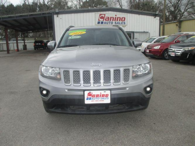 2016 SILVER JEEP COMPASS LATITUDE (1C4NJDEB3GD) with an 2.4L engine, Continuously Variable transmission, located at 830 E. Canino Rd., Houston, TX, 77037, (281) 405-0440, 38.358219, -81.729942 - Photo #0