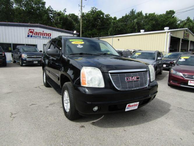2012 BLACK GMC YUKON SLT (1GKS1CE04CR) with an 5.3L engine, Automatic transmission, located at 830 E. Canino Rd., Houston, TX, 77037, (281) 405-0440, 38.358219, -81.729942 - Photo #0