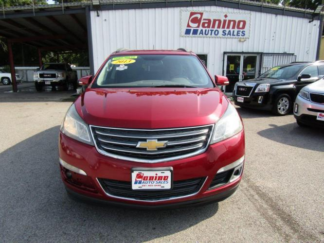 2013 RED CHEVROLET TRAVERSE LT (1GNKRGKD4DJ) with an 3.6L engine, Automatic transmission, located at 830 E. Canino Rd., Houston, TX, 77037, (281) 405-0440, 38.358219, -81.729942 - Photo #0
