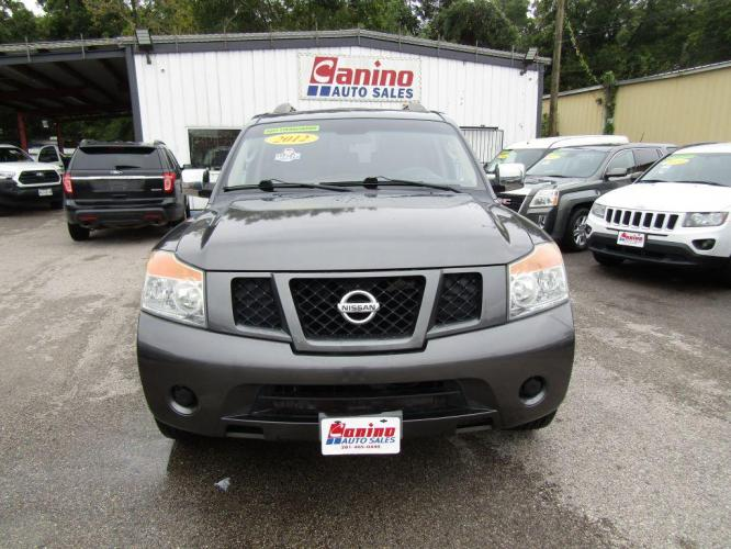 2012 GRAY NISSAN ARMADA SV (5N1BA0ND3CN) with an 5.6L engine, Automatic transmission, located at 830 E. Canino Rd., Houston, TX, 77037, (281) 405-0440, 38.358219, -81.729942 - Photo #0