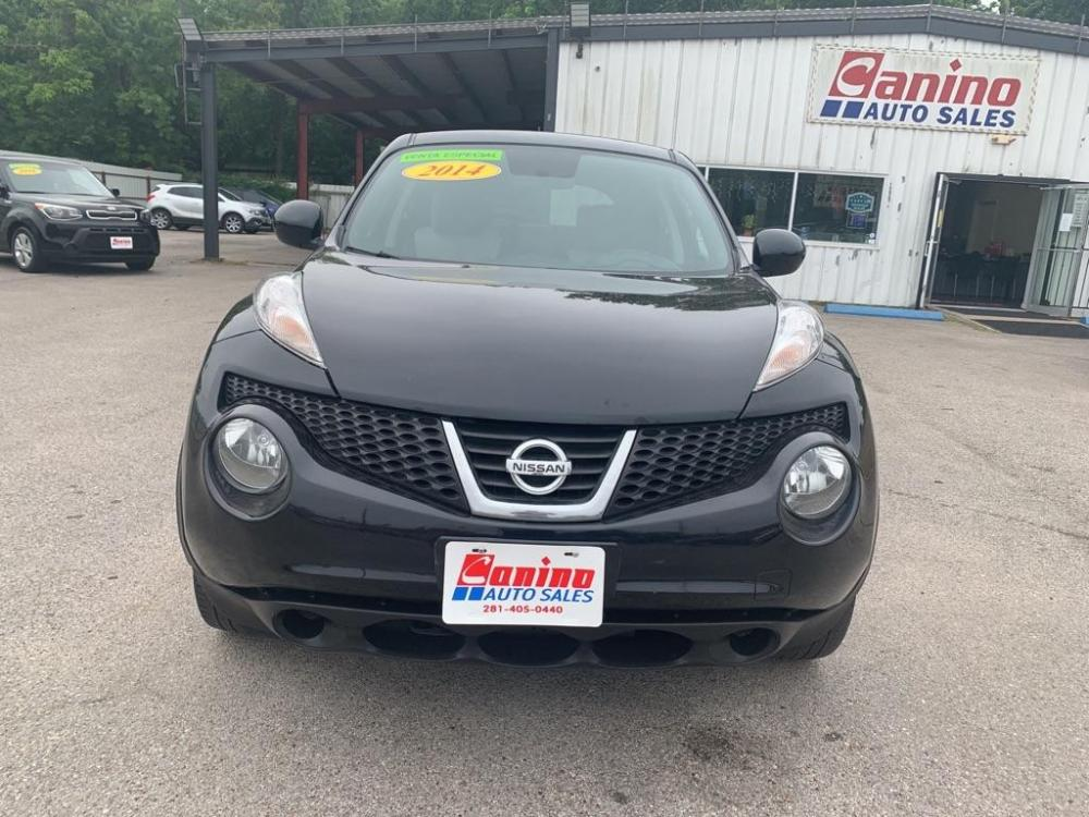 2014 BLACK NISSAN JUKE S (JN8AF5MR1ET) with an 1.6L engine, Continuously Variable transmission, located at 830 E. Canino Rd., Houston, TX, 77037, (281) 405-0440, 38.358219, -81.729942 - Photo #0