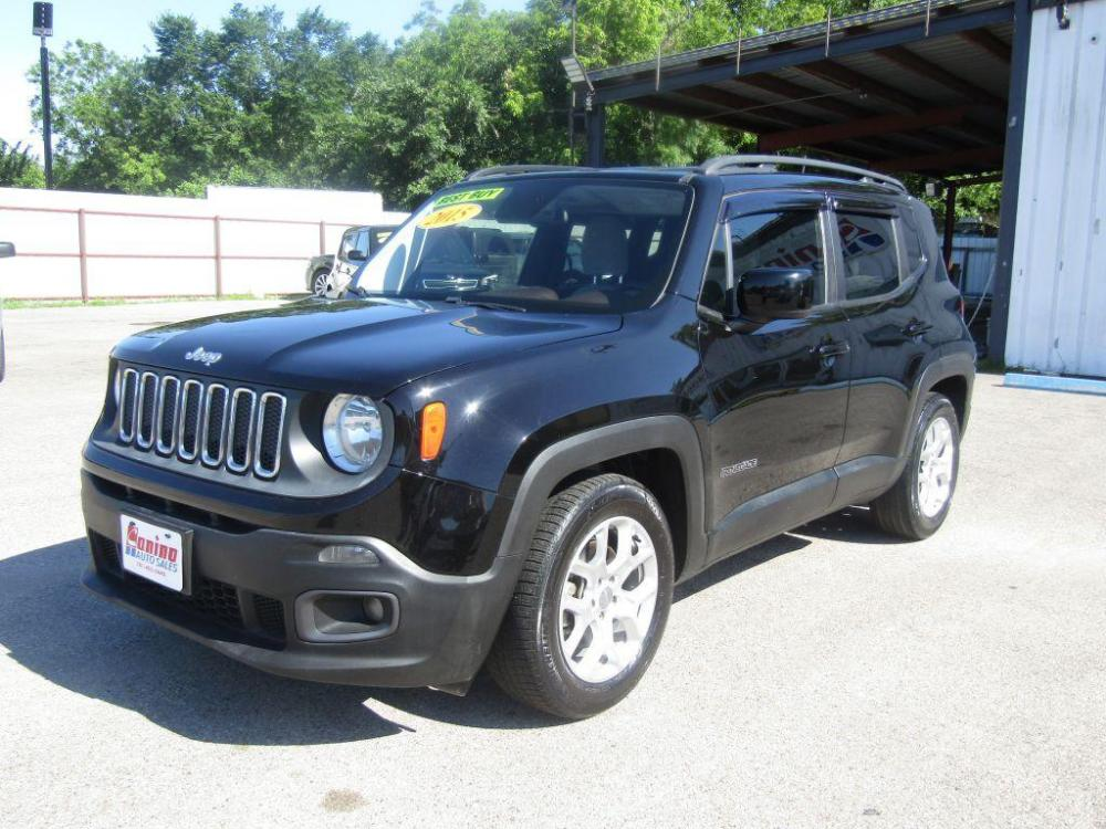 2015 BLACK JEEP RENEGADE LATITUDE (ZACCJABT0FP) with an 2.4L engine, Automatic transmission, located at 830 E. Canino Rd., Houston, TX, 77037, (281) 405-0440, 38.358219, -81.729942 - Photo #0